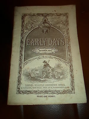 """ANTIQUE RARE ~October 1864 - Early Days or Weslayan Scholars Guide (4.5"""" x 6.5"""")"""