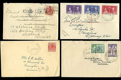 British Solomon Islands 1926-39...4 Covers Kg5 + Kg6