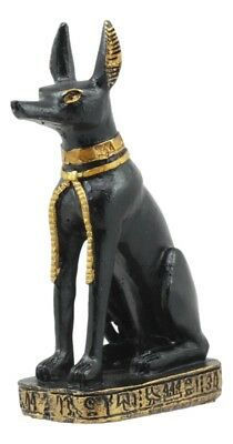 "Anubis Jackal Ancient Egyptian God of After Life Mini Statue Figurine 3"" Tall"