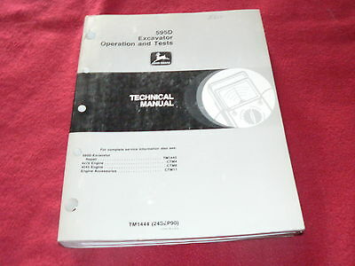 John Deere 695D Excavator Dealer's Technical Service Manual Operations & Tests