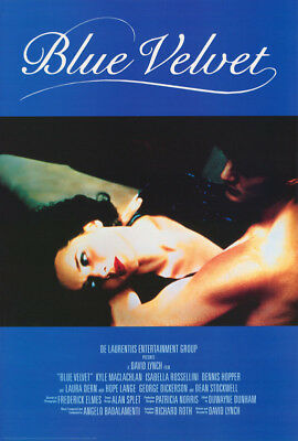 Poster :movie Repro: Blue Velvet - Isabella Rossellina  - Free Ship       Rc51 N