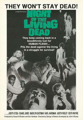 Poster : Movie Repro: Night Of The Living Dead - 1968 - Free Ship #st3065 Rp66 L
