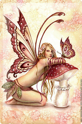 Tin Sign Selina Fenech Fairies Fantasy art goddess mermaid toadstool butterfly