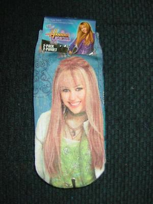 2 pairs of Disney Hannah Montana Size 6-8.5 socks