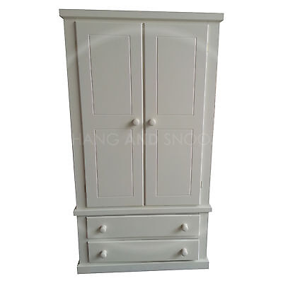 Hand Made Dewsbury Furniture White 2 Drawer Wardrobe(Assembled)**special Offer**