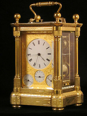 Pendulette voyage / officier, Carriage clock, Reiseuhr Document Horloger Manual