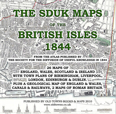 26 Old Maps of the British Isles, Britain, Ireland, in 1844 by SDUK, on CD-R