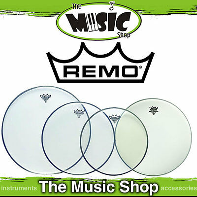 "Remo Drum Head Pack - Emperor Clear Rock Skins 12"", 13"", 16"" +14"" Amb PP-0250-BE"