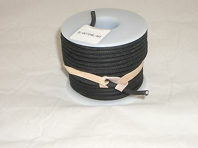 Ced S-W704L 50Ft 20Awg Cloth Covered Insulated Stranded Cu Hook-Up Wire Black 00