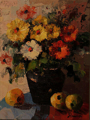 Flower Vase Oil Painting On Stretched Canvas 12x16 4000