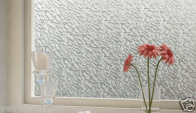 92 CM x 1 M - Watermarks Reapply/Reusable Static Frosted Window Glass Film