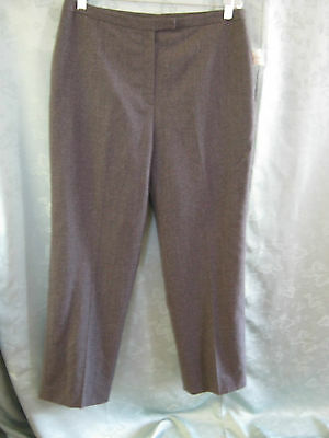 VTG 80's Arthur Levine Wool Pants Size 14 Lined Gray Career Slacks NWT