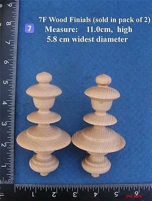 Pair of Clock / furniture Finials Style 7F