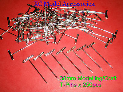 T-Pins 38mm LONG FOR CRAFTS & FLORAL SUPPLIES x 250 PINS