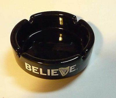 Malaysia GUINNESS STOUT Black BELIEVE Ceramic ASHTRAY RARE Beer