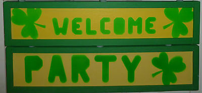 St. Patrick's Day Door Decoration optional Party Sign add-on