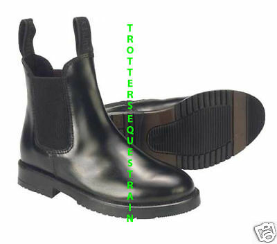 adults size 8 horse riding leather jodhpur/jodphur boots black size 8