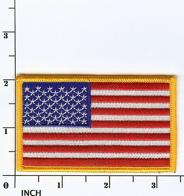 United States American FLAG 3.5 inch color PATCH Old Glory ! Stars & Stripes USA