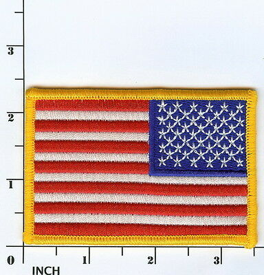 """United States American FLAG 3.5"""" Reversed Field color PATCH Stars & Stripes! USA"""
