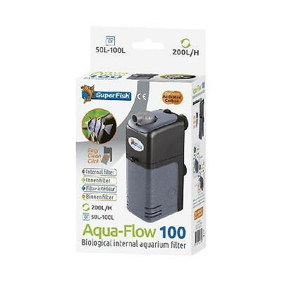 Superfish Aquarium Fish Tank Aqua Flow 100 Biological Internal Filter 50L - 100L