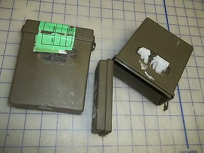 OD green good used LOT OF 2 inserts first aid case empty military issue go bag
