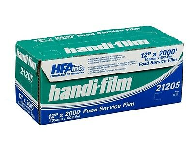 "Handi-Film 12""x2000' Plastic Food Service Film Cling Wrap Roll - HFA # 21205"