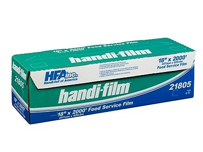 "Handi-Film 18""x2000' Plastic Food Service Film Cling Wrap Roll - HFA # 21805"