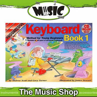 New Progressive Young Beginner Keyboard Method Book 1 with CD - Kids Lesson Book