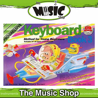 New Progressive Young Beginner Keyboard Method Book 3 with CD - Kids Lesson Book