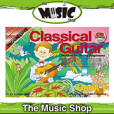 New Progressive Young Beginner Classical Guitar - Tuition Music Book with CD