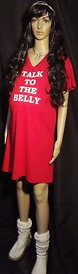 Talk To The Belly Maternity RED dress ** SM/MD ** L/XL ** 2XL/3XL **