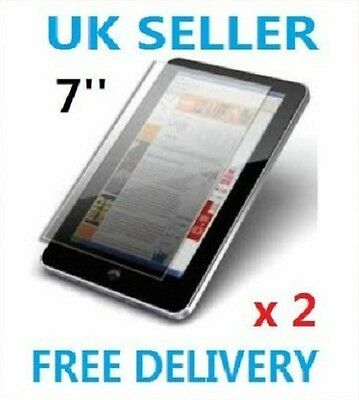 "2 x PROFESSIONAL SCREEN PROTECTOR FOR 7"" INCH TOUCH AREA ANDROID TABLET PC UK"