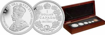 Canada 2011 6 Coin 1911 100th Anniversary Pattern Silver Dollar $1 Proof Set