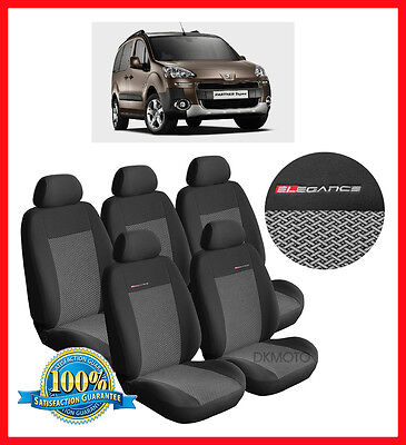Peugeot Partner Tepee Outdoor  5 seats  Tailored seat covers - grey2