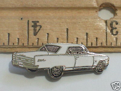1964 - 1965 Chevelle Pin Badge Chevrolet Pins lapel Hat Tack (White Car Pin)