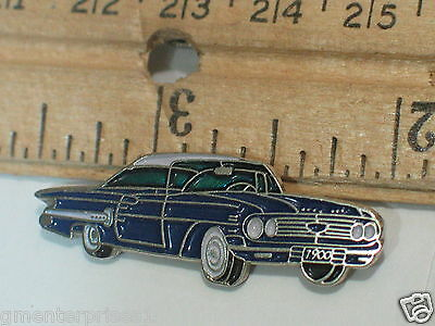 1960 Impala Sport Coupe Pin Badge Chevrolet Pins lapel Hat Tack (Blue Car Pin)