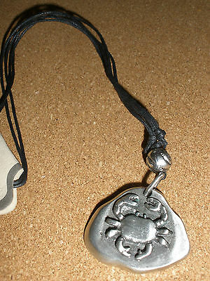 Zodiac star sign pendant Charm Astrology Horoscope pewter birth sign Cancer