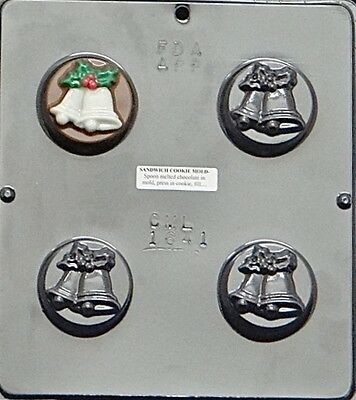 Christmas Bells Chocolate Oreo Cookie Mold 1641 NEW