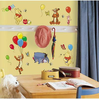 38 WINNIE THE POOH WALL DECALS Tigger Eeyore Stickers Disney Room Decorations