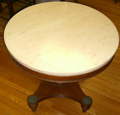 Empire Table, Gorgeous Belgium Marble top - Circa Early 20th Century