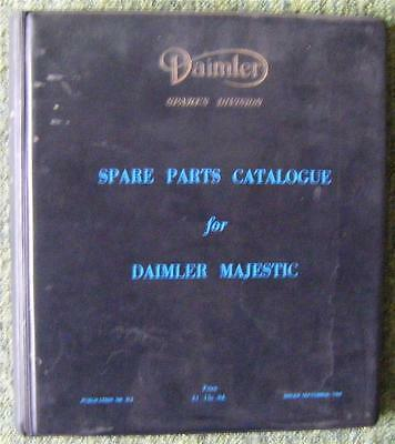 Daimler Majestic Spare Parts Catalogue September 1962 Ref- D2