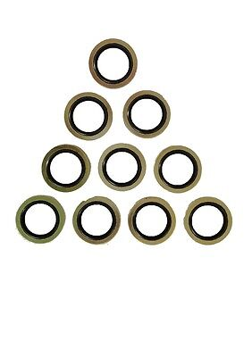 "1/8"" - 1"" BSP Dowty Seal - Bonded Washers - pack of 10"