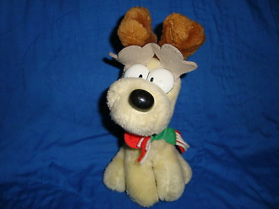 Mcdonald's 1990 Christmas Plush Christmas Dog Odie 7.5""
