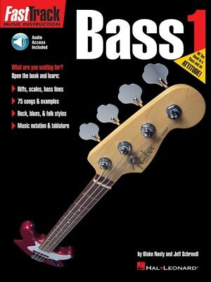 New Fast Track Bass Method Book 1 with CD - Learn Bass Guitar with Tab & Notes