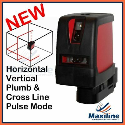 1V1H Cross Line Laser Level with Plumb Dot and Wall Mount Soft Case EL522