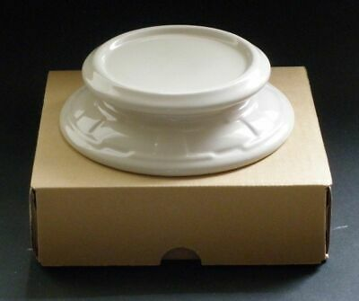 IVORY Candle Holder Cheeseball Plate Dish Wedding Centerpiece Longaberger New