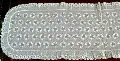 Antique Table Runner - Needle Work Lace Ecru in Color Early 1900's