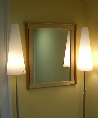 Post-Modern Arts & Crafts /Handcrafted Cherry & Maple Mirror- Made in U.S.A