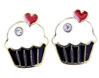 Vintage Art Deco retro style cupcake charm earrings multiple choices