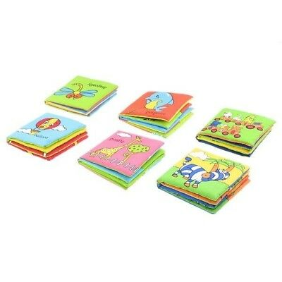Pack of 6 Coloured Cloth Baby Picture Books New Kid Cognize Toy Books